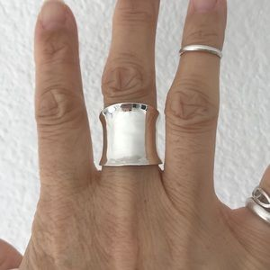 Jewelry - Sterling Silver Concave Wide Band Ring
